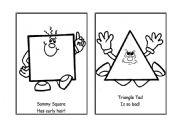 English Worksheet: SHAPES Chanting Cards, Part 2