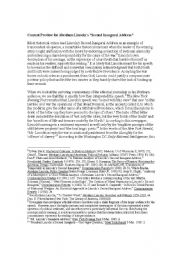 English Worksheets: Lincoln