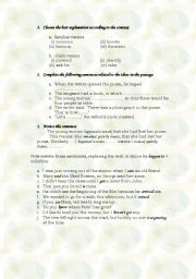 English Worksheets: PART 2 {The writer found a purse}