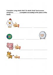 English Worksheets: What�s this or What�s that