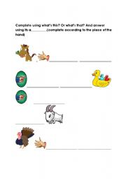 English Worksheets: the second part of the worksheet what�s this ot that