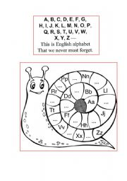 English teaching worksheets: The alphabet