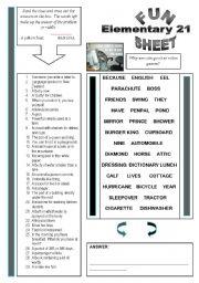 English Worksheets: Fun Sheet Elementary 21