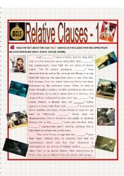 English Worksheets: Relative Clauses 1 - BOLT