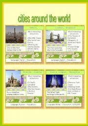 English worksheet: CITIES AROUND THE WORLD