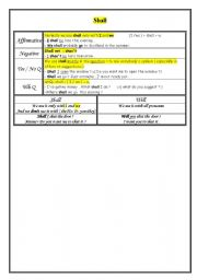 English Worksheet: shall