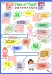 English Worksheets: Conjuctions -Then or than?