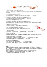 English Worksheet: Love Mind Test 2 for Fun and Motivation
