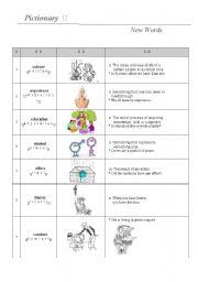 English Worksheets: Basic Words (1)