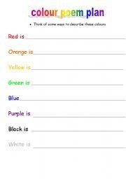 Color poem template by dipasqua education | teachers pay teachers.