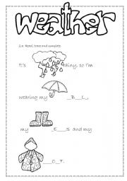 weather and clothes matching esl worksheet by. Black Bedroom Furniture Sets. Home Design Ideas
