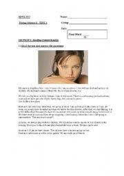English worksheet: Test Adults 1 Part 1