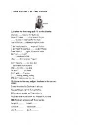 English Worksheet: A song: I have nothing, by Whitney Houston