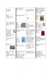 English worksheet: at the clothes shop domino
