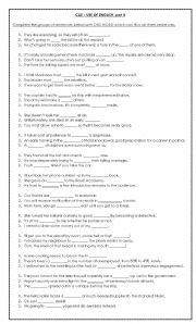 English Worksheet: CAE - Use of English Part 4 with key