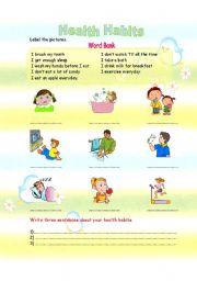 Worksheet Healthy Habits Worksheets english teaching worksheets healthy habits health habits