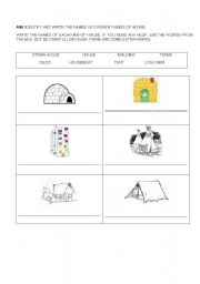 English worksheet: Housing