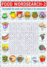 FOOD WORDSEARCH -2