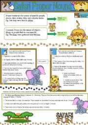 Proper Nouns and Common Nouns- Safari Fun