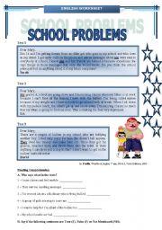 English Worksheet: SCHOOL PROBLEMS (BULLYING)