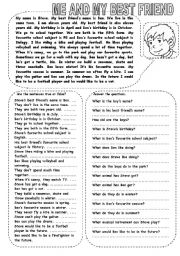 English Worksheets: ME AND MY BEST FRIEND (2)