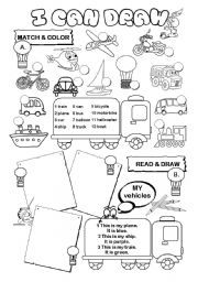English Worksheet: I can draw series (10/10) - transport