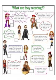 Clothes & Wearing & Adjectives & Singular - Plural / LOGIC QUIZ