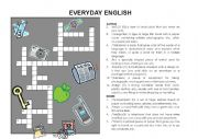 English Worksheets: Everyday English Crossword
