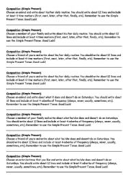 English Worksheets: Composition Prompts