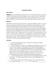 English Worksheets: A Bug�s Life Lesson