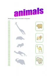 English Worksheets: animal�s shadow