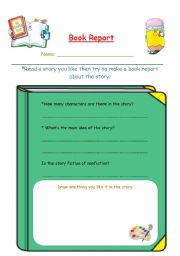 English Worksheets: Book report
