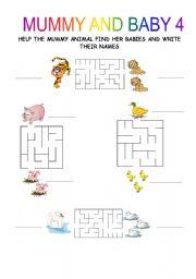 English Worksheets: MUMMY AND BABY 1