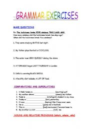 Printables Grammar Worksheets With Answers english teaching worksheets other grammar mix