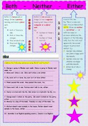 English Worksheets: BOTH-NEITHER-EITHER