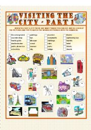 English Worksheets: Visiting the City - Part 1