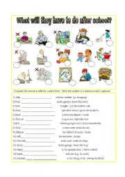 What will they have to do after school? - ESL worksheet by fernis