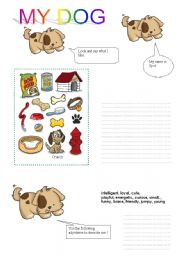 English Worksheets: MY DOG