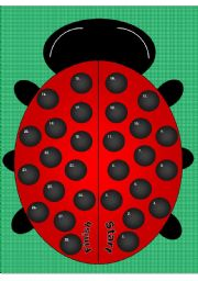 English Worksheets: Lady Bug Board (Use my Lady Bug Frames for Cards)