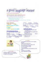 English Worksheets: spot on unit 13 a good language learner