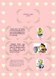 English Worksheet: Easter Egg Cards