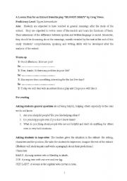 English Worksheets: bloody mary