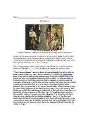 English Worksheets: Iroquois Longhouse