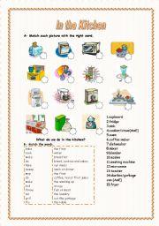 100 cooking vocabulary worksheets esl kitchen verbs english language esl efl learn. Black Bedroom Furniture Sets. Home Design Ideas