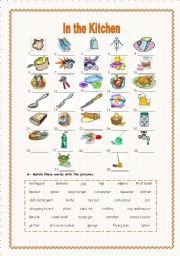 In The Kitchen 2 2 Kitchen Objects Esl Worksheet By