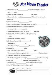 English Worksheets: Movie Theater Madlibs