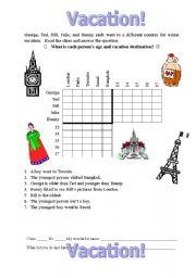 Worksheets Logic Puzzles Worksheets english worksheet vacation logic puzzle