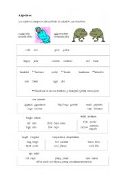 English Worksheets: Adjectives and nouns