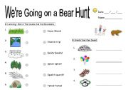 We re going on a bear hunt worksheets