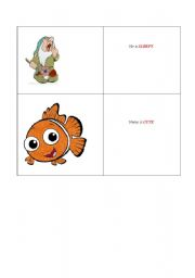 English Worksheets: funny faces 3 of 4